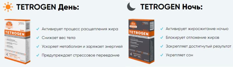 Тетроген день ночь